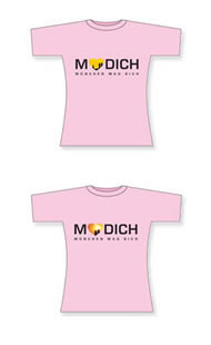 "Rosa Girlie-Shirt ""München mag Dich"""